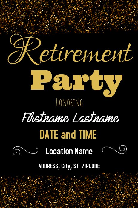 Retirement Party Flyer Templates Free Luxury Retirement Party Template