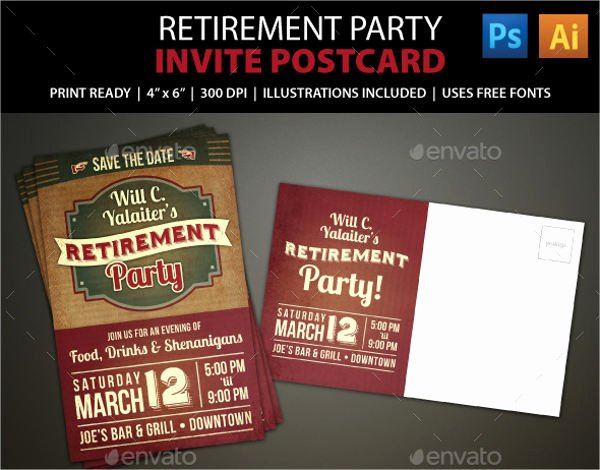 Retirement Party Flyer Templates Free New 6 Retirement Invitation Templates Free Download