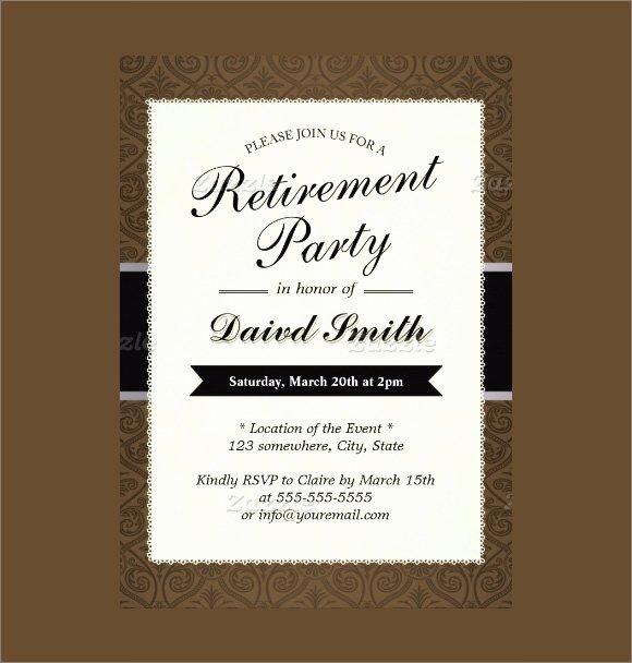 Retirement Party Flyer Templates Free New Retirement Party Invitation 7 Premium Download