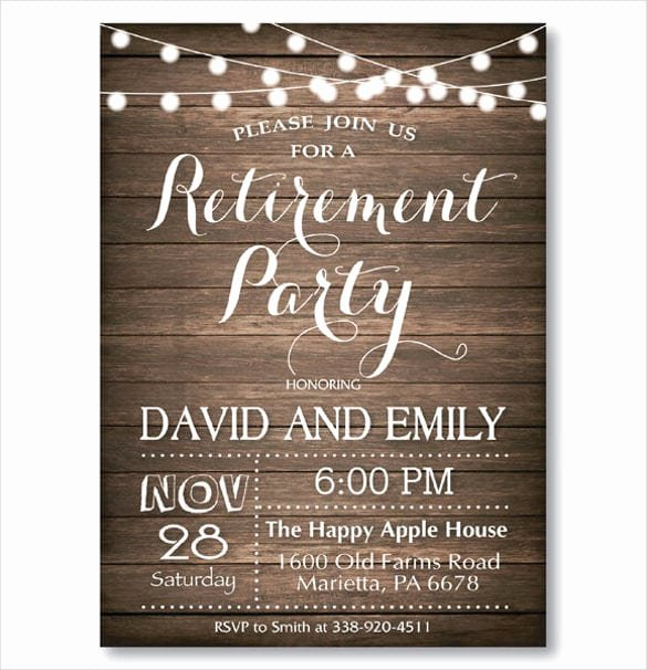 Retirement Party Flyer Templates Free New Retirement Party Invitation Templates