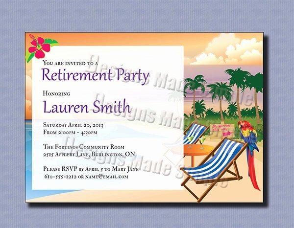 Retirement Party Invitation Templates Beautiful 36 Retirement Party Invitation Templates Psd Ai Word