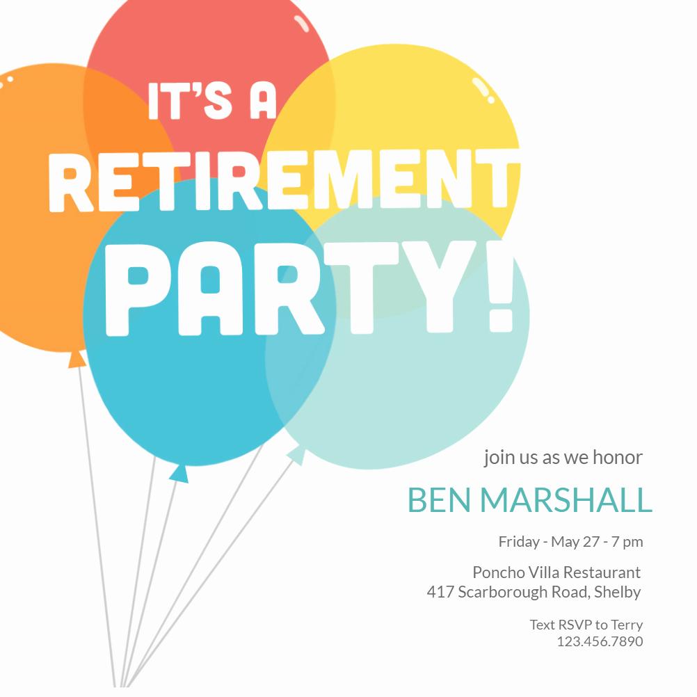 Retirement Party Invitation Templates Beautiful Going Up Retirement & Farewell Party Invitation Template
