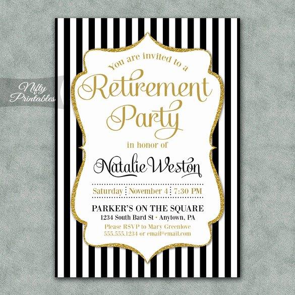 Retirement Party Invitation Templates Beautiful Retirement Party Invitation Template – 36 Free Psd format