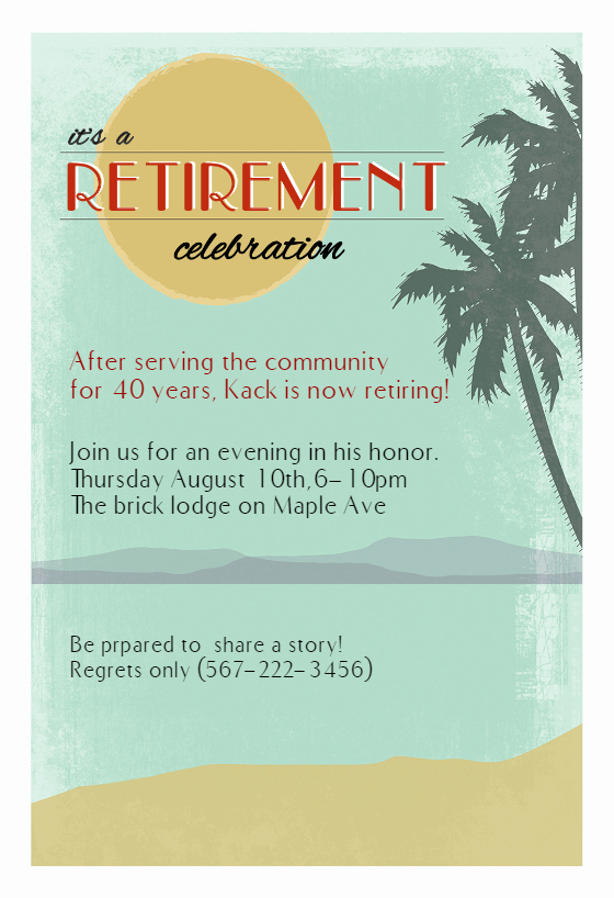 Retirement Party Invitation Templates Best Of Its A Retirement Celebration Retirement & Farewell Party
