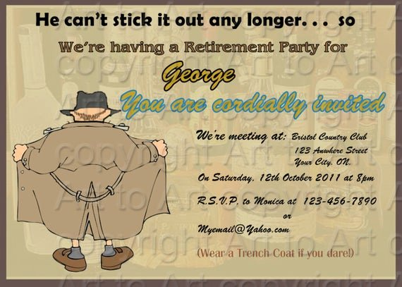 Retirement Party Invitation Templates Best Of Retirement Party Invitation for Man 180 Personalized Digital
