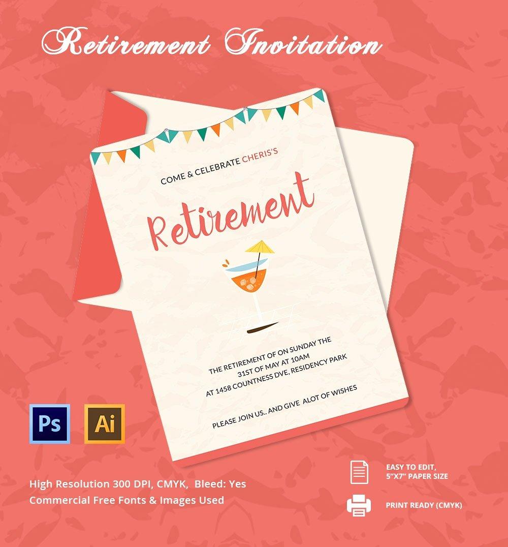 Retirement Party Invitation Templates Elegant 25 Retirement Invitation Templates Psd Vector Eps Ai