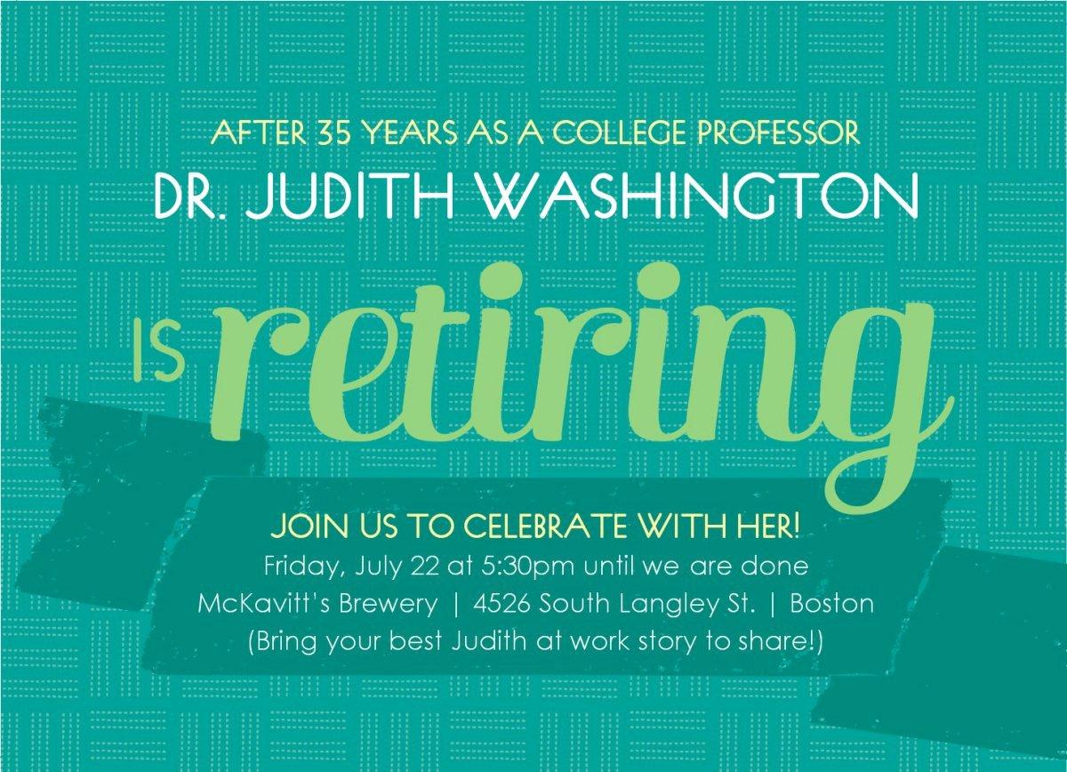 Retirement Party Invitation Templates Elegant Printable Retirement Invitations Free