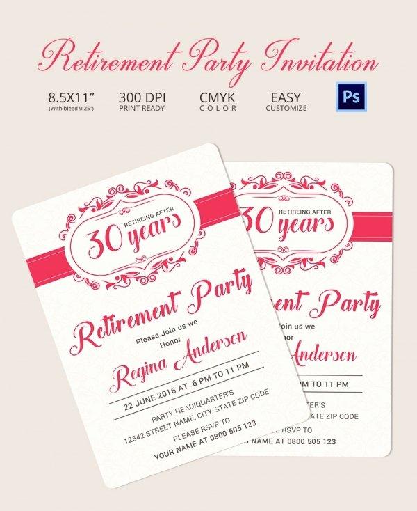 Retirement Party Invitation Templates Fresh Retirement Party Invitation Template 36 Free Psd format