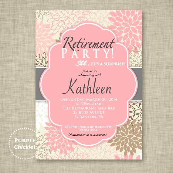 Retirement Party Invitation Templates Fresh Surprise Retirement Party Invitation Pink Adult Surprise Party