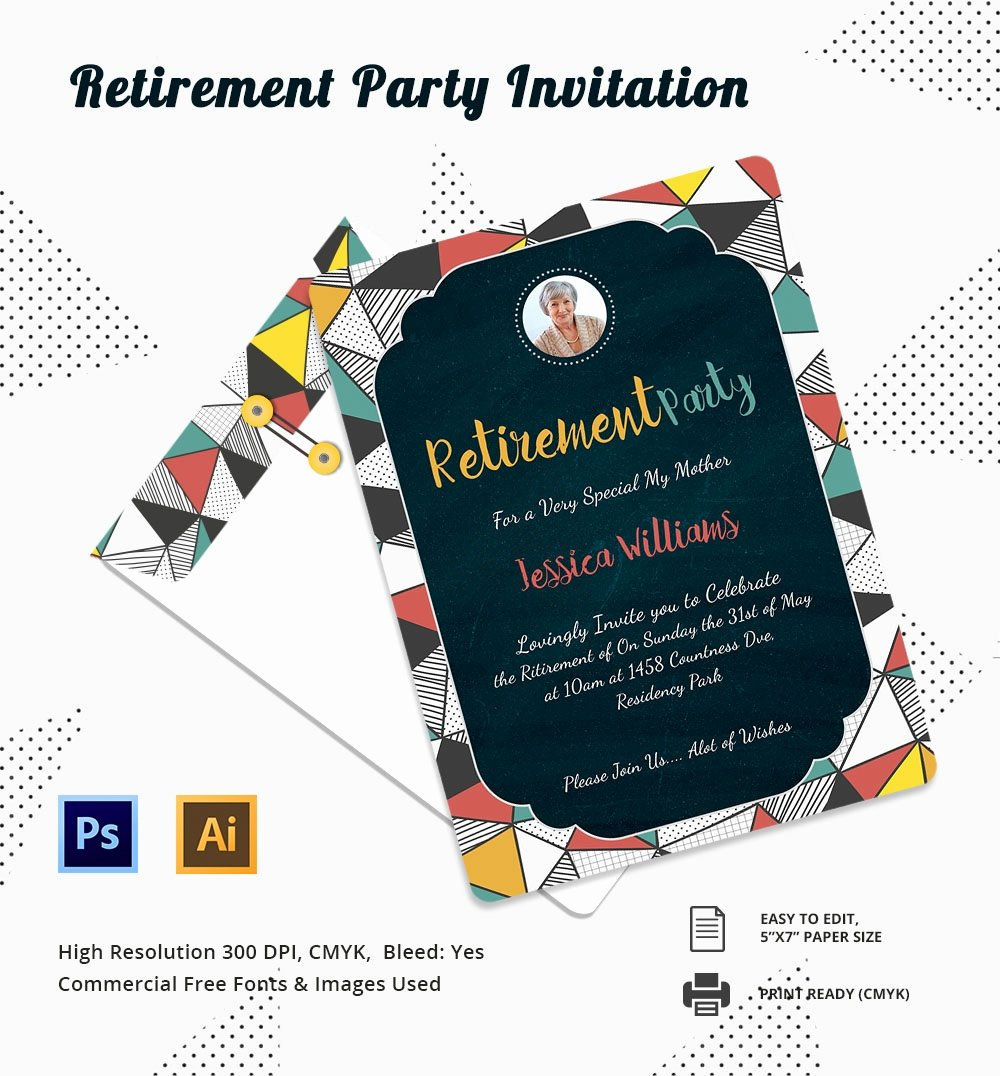 Retirement Party Invitation Templates Lovely 25 Retirement Invitation Templates Psd Vector Eps Ai