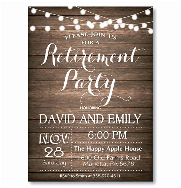 Retirement Party Invitation Templates Luxury 36 Retirement Party Invitation Templates Psd Ai Word