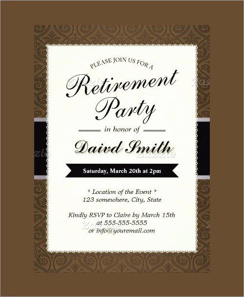 Retirement Party Invitation Templates New 54 Invitation Templates Word Psd Ai