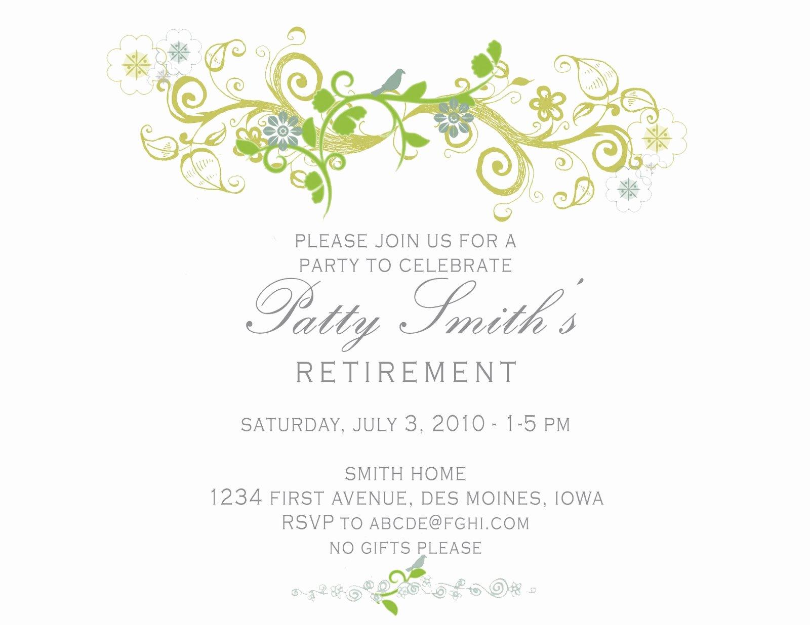 Retirement Party Invitation Templates New Idesign A Retirement Party Invitation