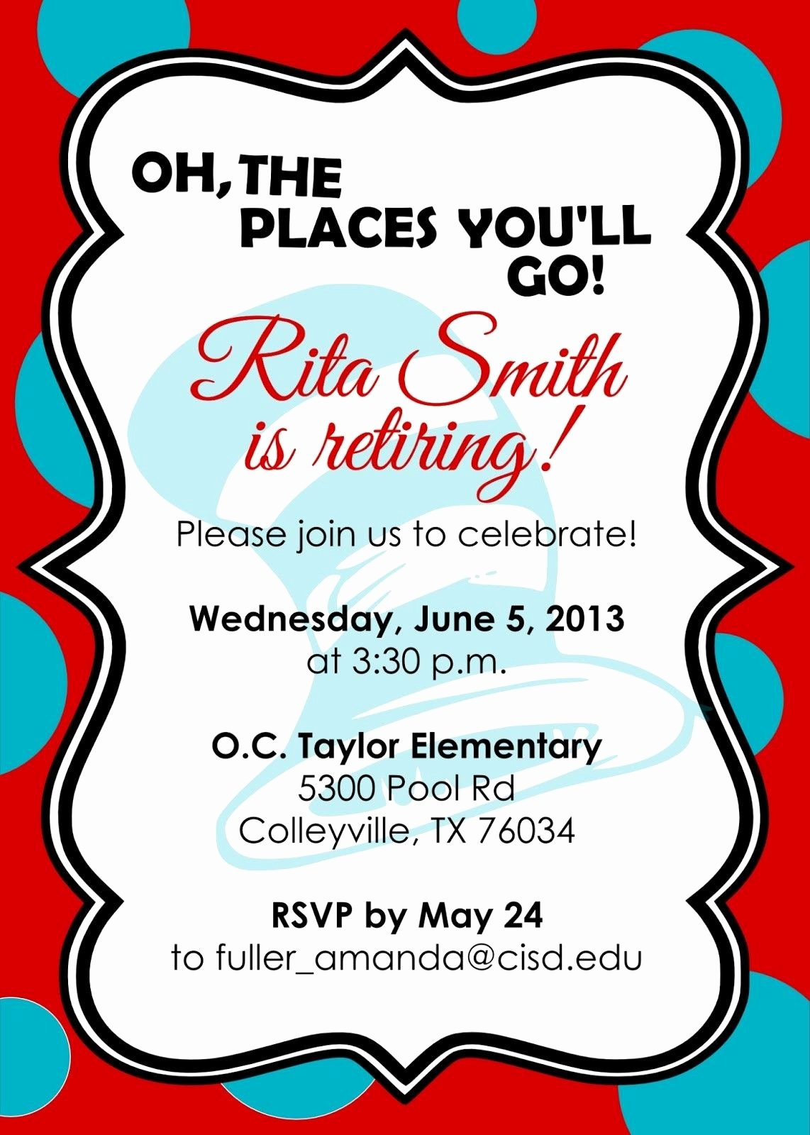 Retirement Party Invitation Templates New Retirement Party Invitations Free Templates