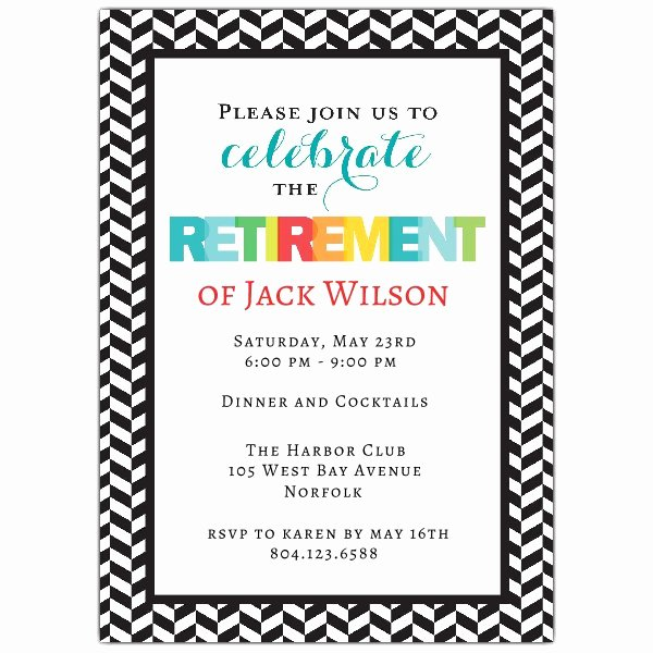 Retirement Party Invitation Templates Unique Modern Colorful Retirement Party Invitations