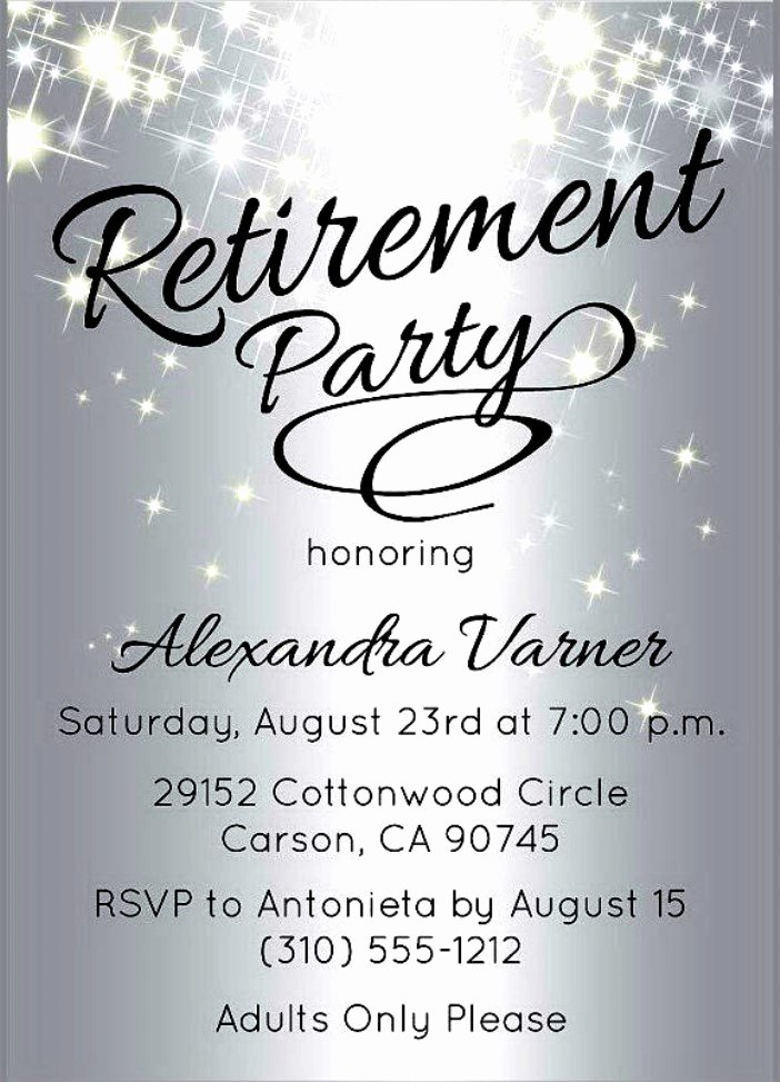 Retirement Party Invitation Templates Unique Retirement Flyer Template – Emmamcintyrephotography