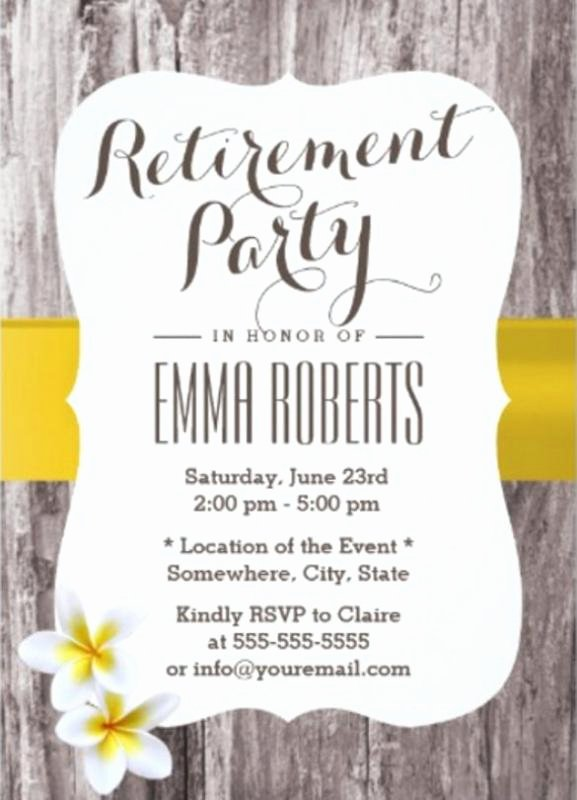 Retirement Party Invitations Templates Beautiful Retirement Flyer Template