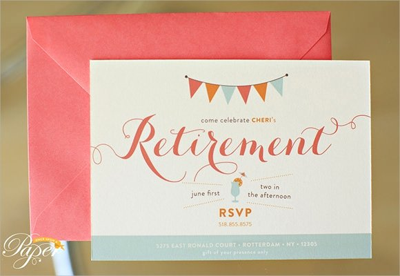 Retirement Party Invitations Templates Best Of Free 17 Retirement Party Invitations In Illustrator