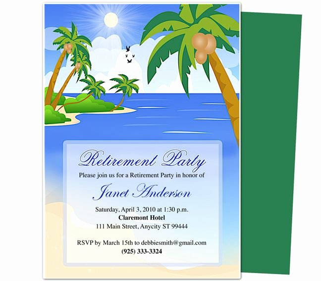 Retirement Party Invitations Templates Best Of Retirement Templates Paradise Retirement Party