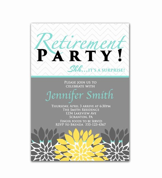 Retirement Party Invitations Templates Best Of Surprise Retirement Party Invitation Blue Yellow by