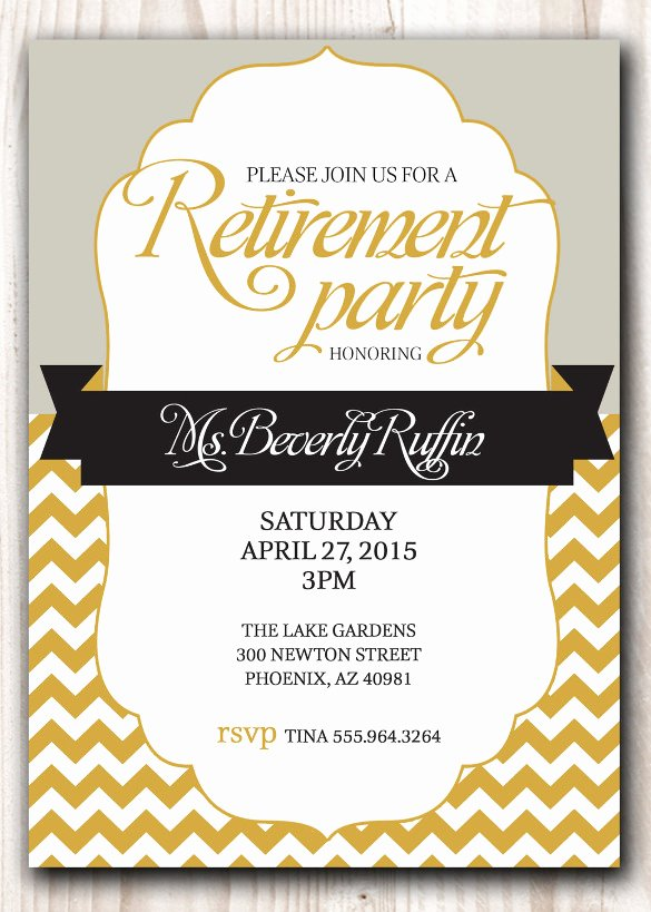 Retirement Party Invitations Templates Elegant 30 Retirement Invitation Templates Psd Ai Word