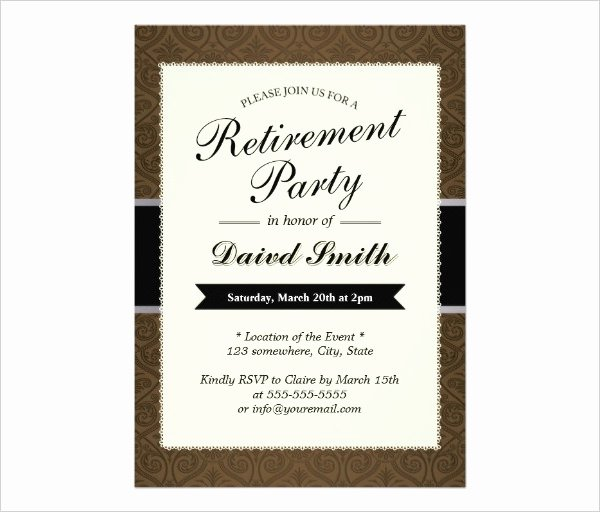 Retirement Party Invitations Templates Elegant 36 Retirement Party Invitation Templates Psd Ai Word