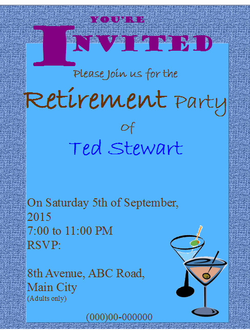 Retirement Party Invitations Templates Elegant Retirement Party Flyer Invitation