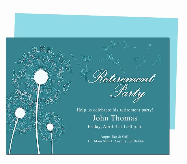 Retirement Party Invitations Templates Inspirational Winds Retirement Party Invitation Templates Diy Printable