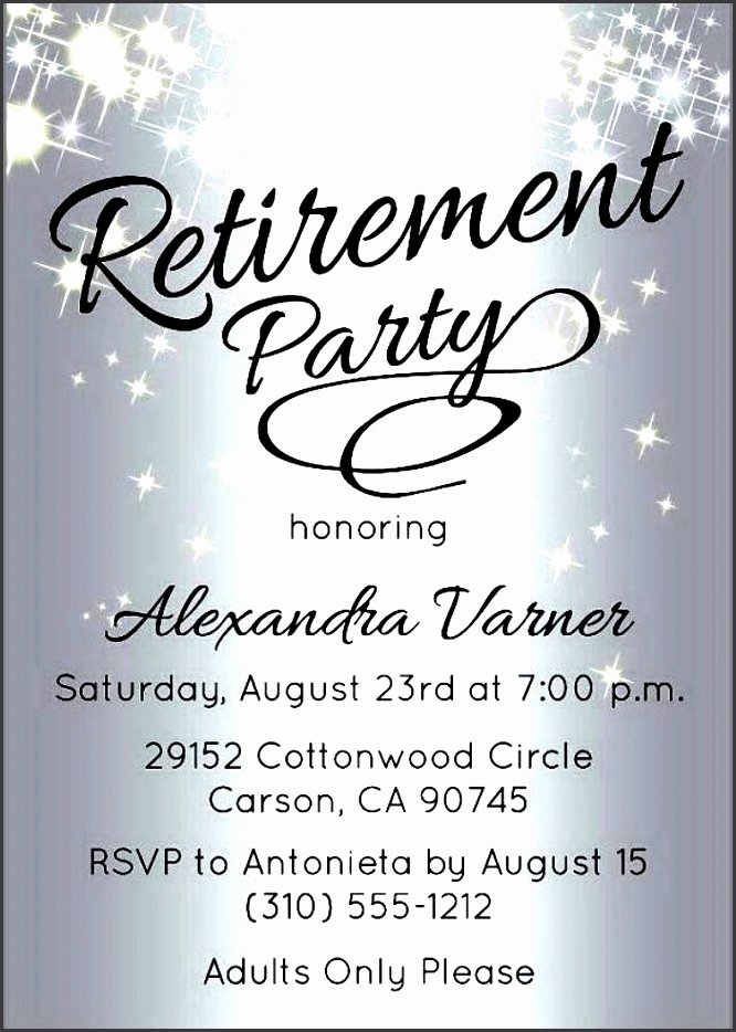 Retirement Party Invitations Templates Luxury 10 Retirement Party Invitation Template Sampletemplatess