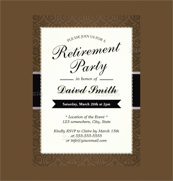 Retirement Party Invitations Templates New Free 17 Retirement Party Invitations In Illustrator