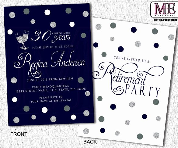 Retirement Party Invitations Templates New Retirement Party Invitation Template 36 Free Psd format