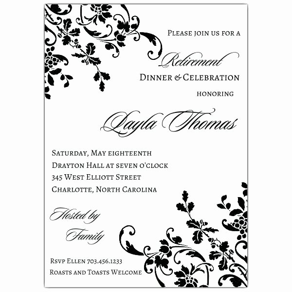 Retirement Party Invitations Templates Unique Floral Stripe Retirement Invitations