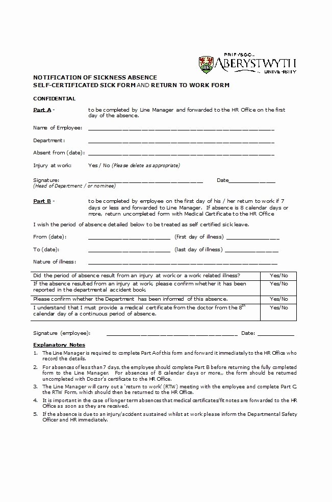 Return to Work form Template New 49 Best Return to Work [& Work Release forms] Template Lab