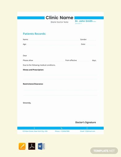 Return to Work Note Template Best Of 5 Return to Work Doctor S Note Examples & Templates