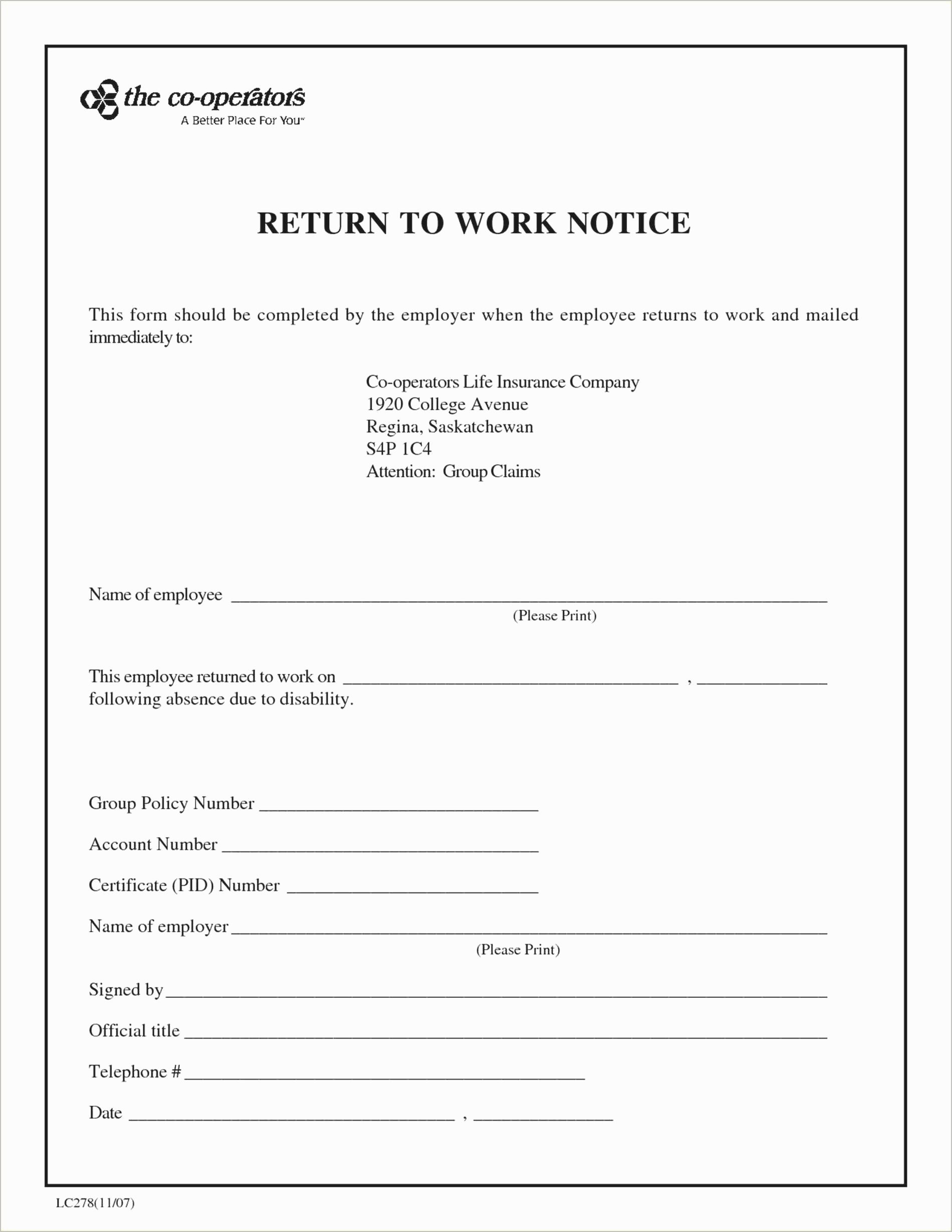 Return to Work Note Template Lovely Return to Work Doctors Note Template