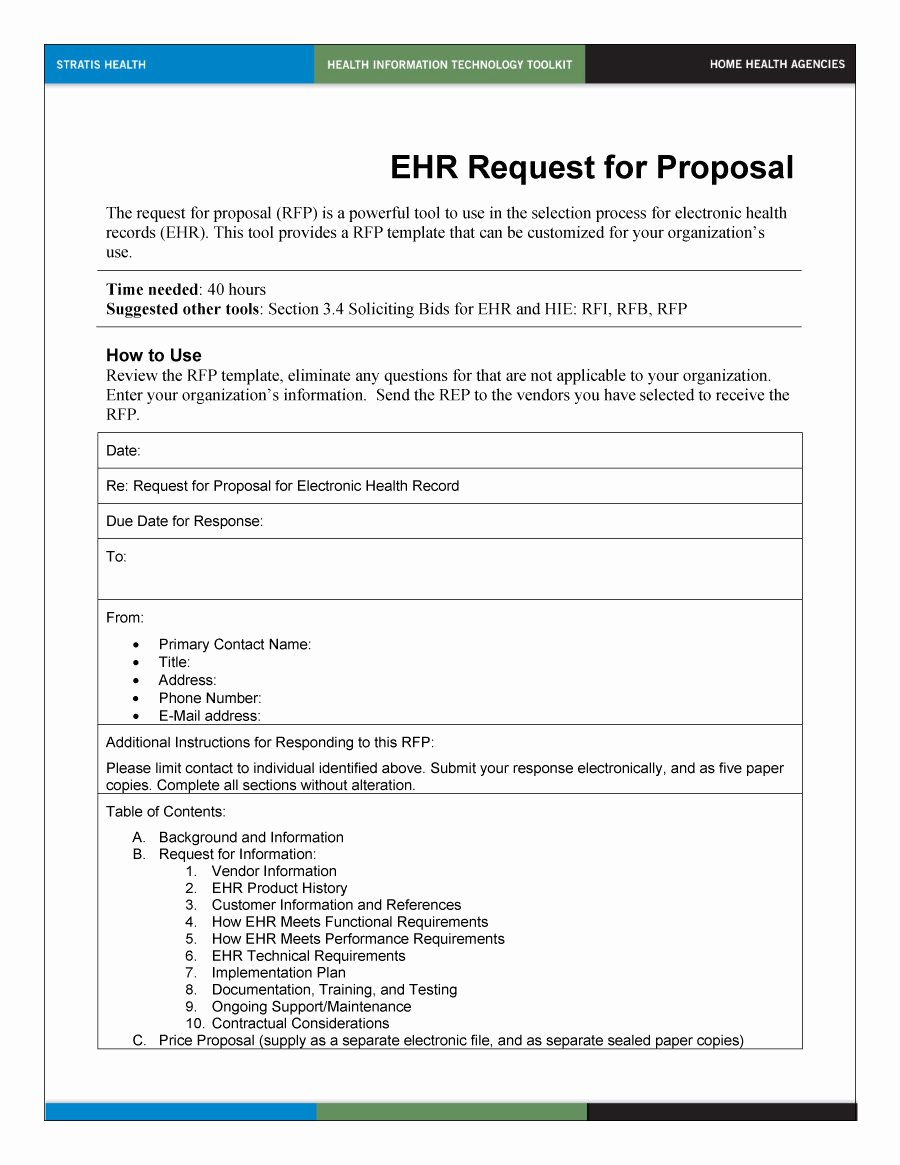 Rfp Response Template Word Elegant 40 Best Request for Proposal Templates & Examples Rpf