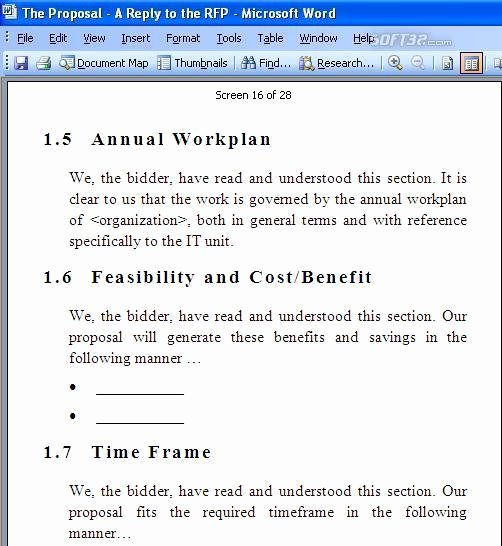 Rfp Response Template Word New Rfp Response Template Free Download for Windows 10 7 8 8