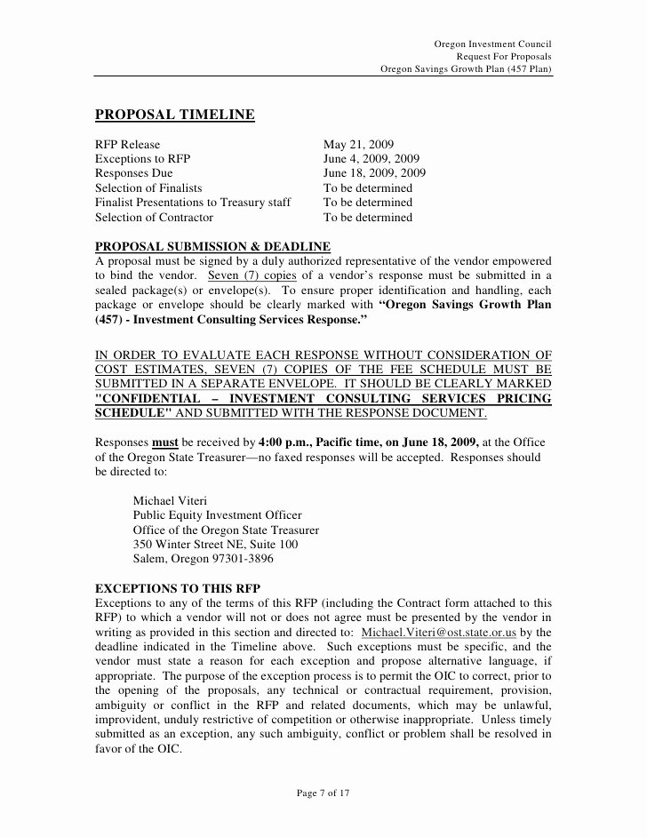 Rfp Response Template Word Unique Microsoft Word Rfp for Investment Consulting Services