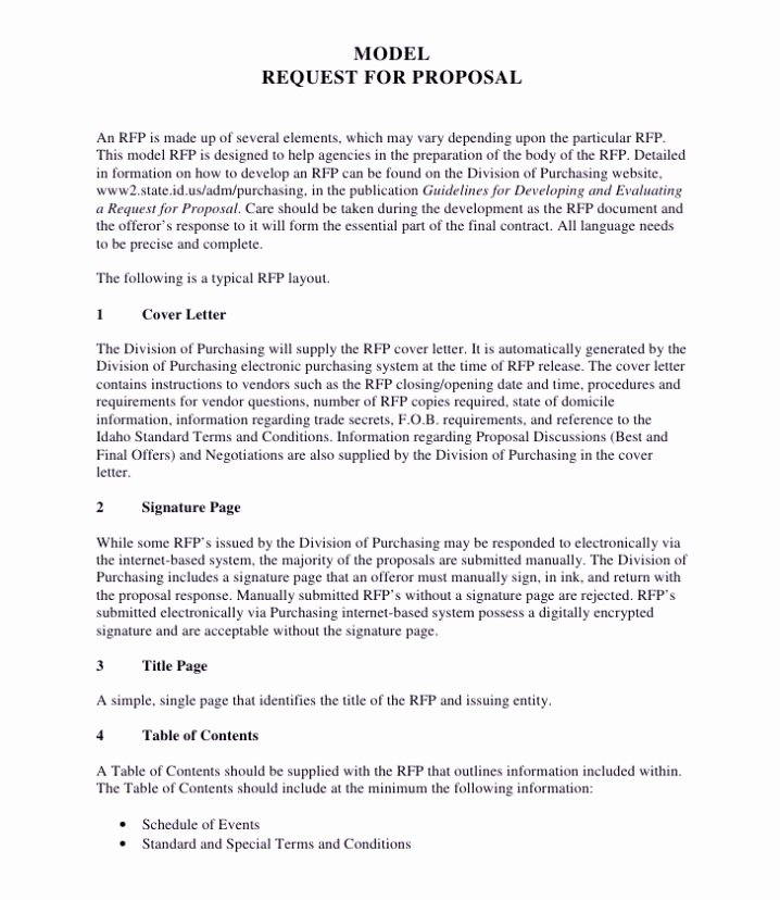 Rfp Response Template Word Unique Sample Rfp Response Template Information Technology Example