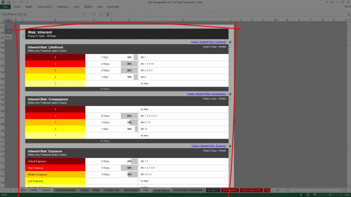 Risk assessment Report Template Best Of Risk Template In Excel Training • Inherent Risk assessments