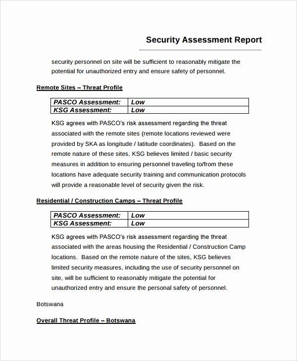 Risk assessment Report Template Fresh 9 Sample Risk assessment Report Templates Google Docs