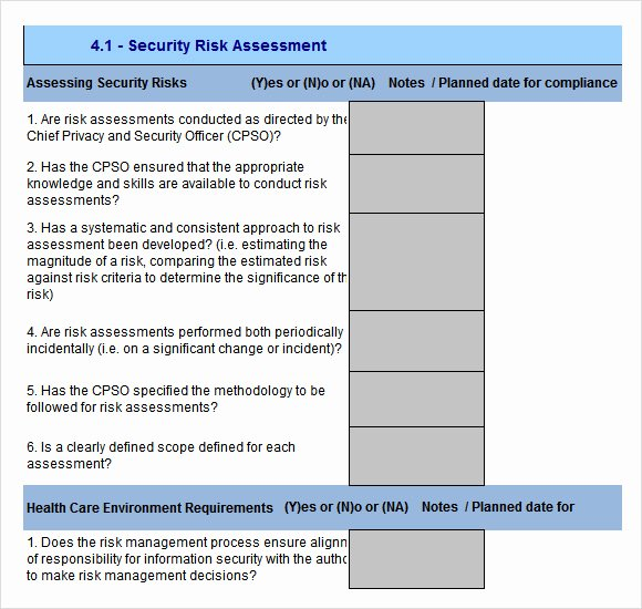 Risk assessment Report Template New Free 12 Sample Security Risk assessment Templates In Pdf