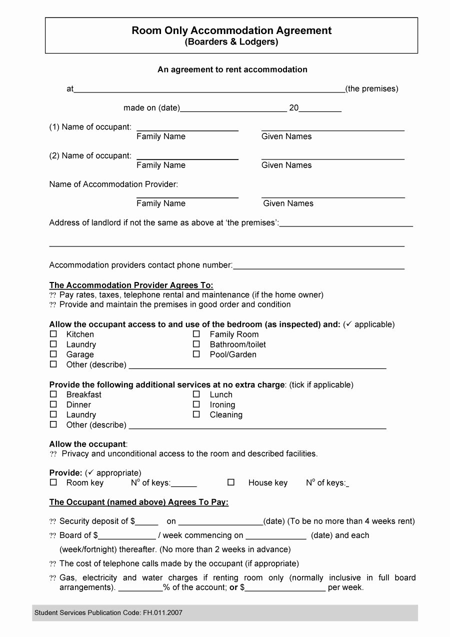 Roommate Rental Agreement Template Best Of 40 Free Roommate Agreement Templates & forms Word Pdf