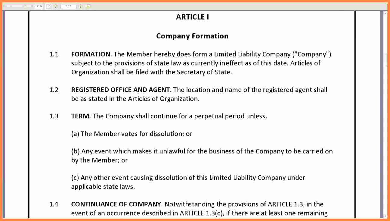 S Corp Operating Agreement Template Lovely 4 Corporation Operating Agreement Template