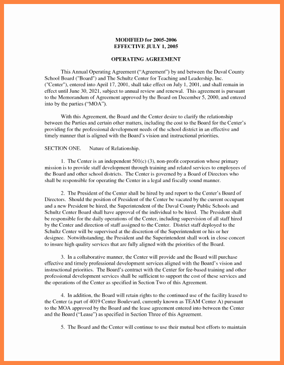 S Corp Operating Agreement Template Luxury 9 Operating Agreement Corporation Template