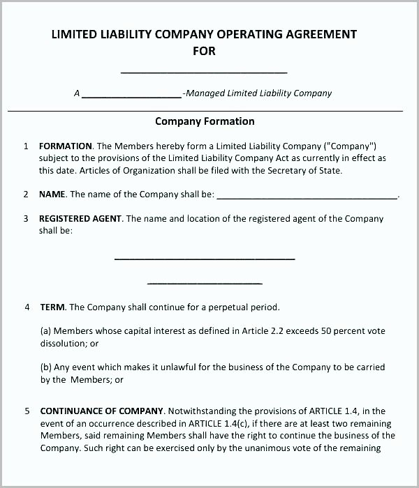 S Corp Operating Agreement Template Unique S Corp Operating Agreement