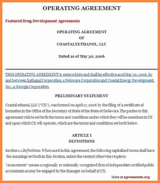 S Corporation Operating Agreement Template Awesome 4 Corporation Operating Agreement Template