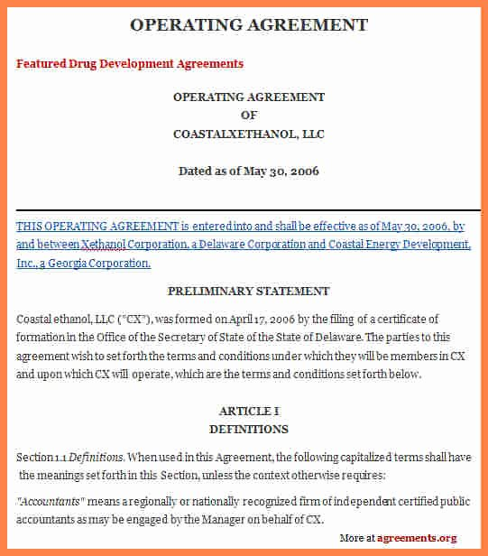 S Corporation Operating Agreement Template Inspirational 9 Operating Agreement Corporation Template