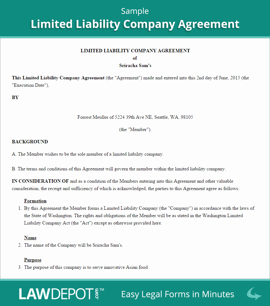 S Corporation Operating Agreement Template Lovely Llc Operating Agreement Template Us