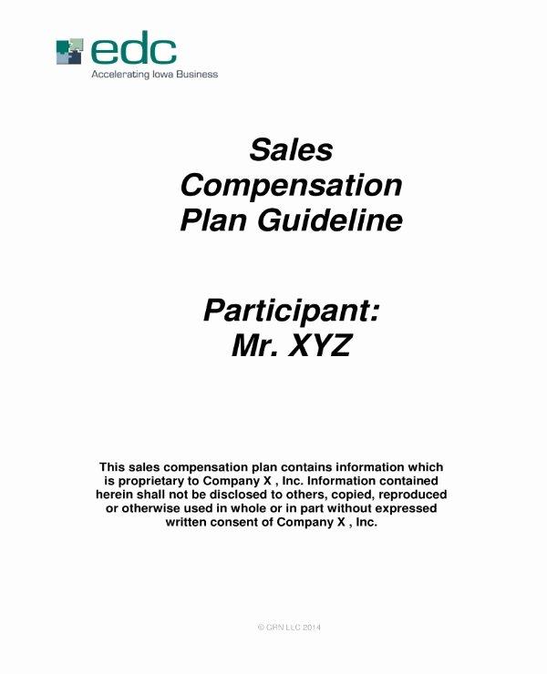 Sales Commission Plan Template Beautiful 5 Sales Pensation Plan Templates Pdf Word